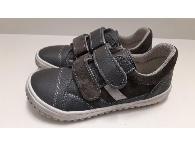 Dětské celoroční boty Jonap B10MV šedá - suchý zip