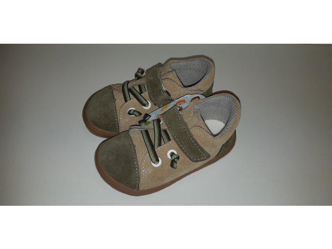 Celoroční barefoot obuv Jonap B12SV béžová khaki