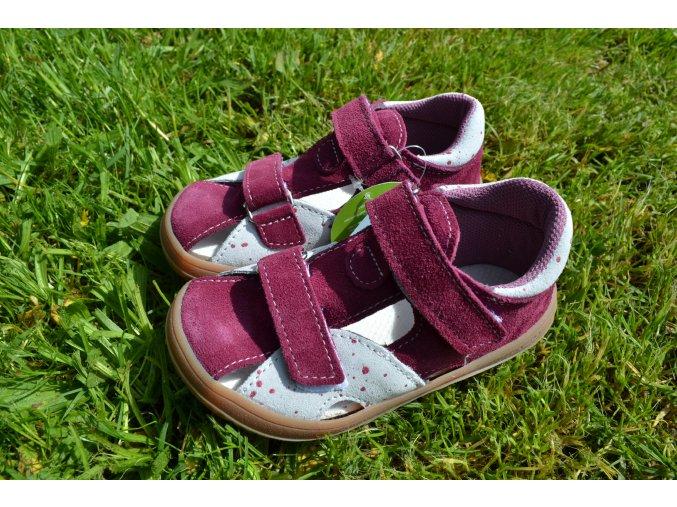 Jonap barefoot sandálky B8 S vínová