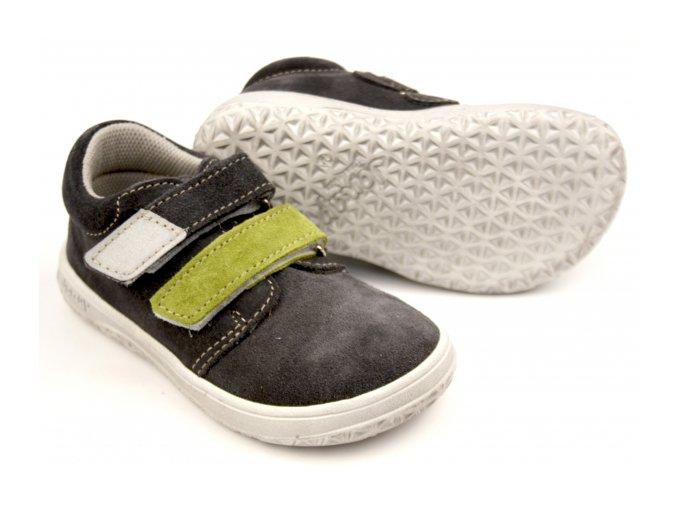 Celoroční barefoot obuv Jonap B1SV šedo zelená SLIM