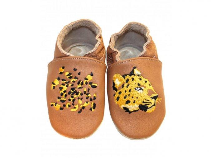 baBice barefoot capáčky - EM-024 / gepard na hnědé
