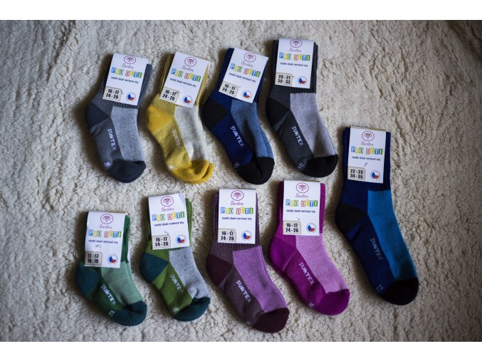 Surtex volný lem pro děti nové barvy (min. 80% merinové vlny) 18-19 (vel. 28-29)