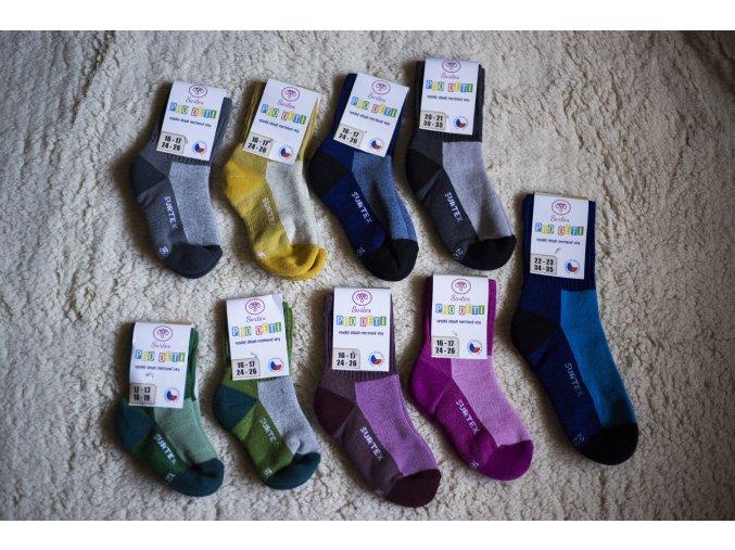 Surtex volný lem pro děti nové barvy (min. 80% merinové vlny) 20-21 (vel. 30-33)