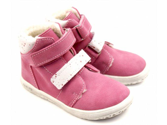 Zimní barefoot obuv Jonap B4 SV růžová