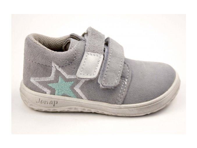 Celoroční barefoot obuv Jonap B1SV šedá hvězda SLIM