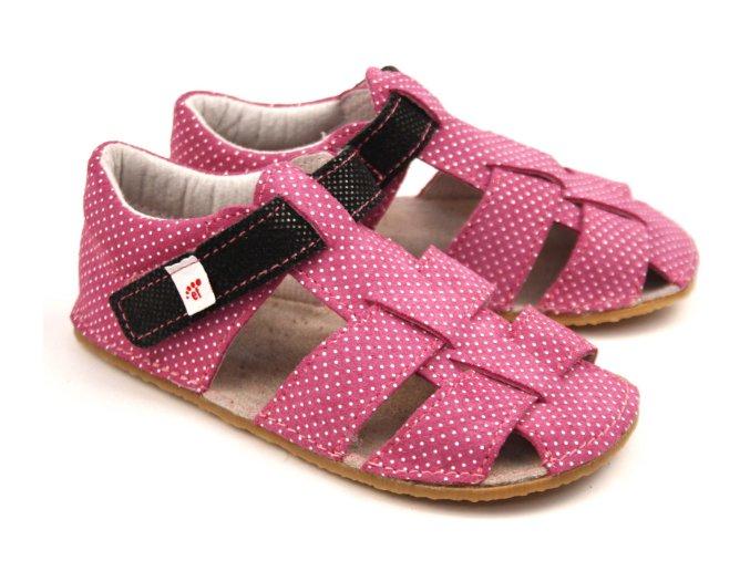 Ef barefoot sandálky růžová černá