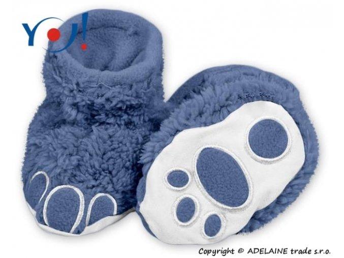 74093 111411 boticky ponozticky yo medvidek tmave modra