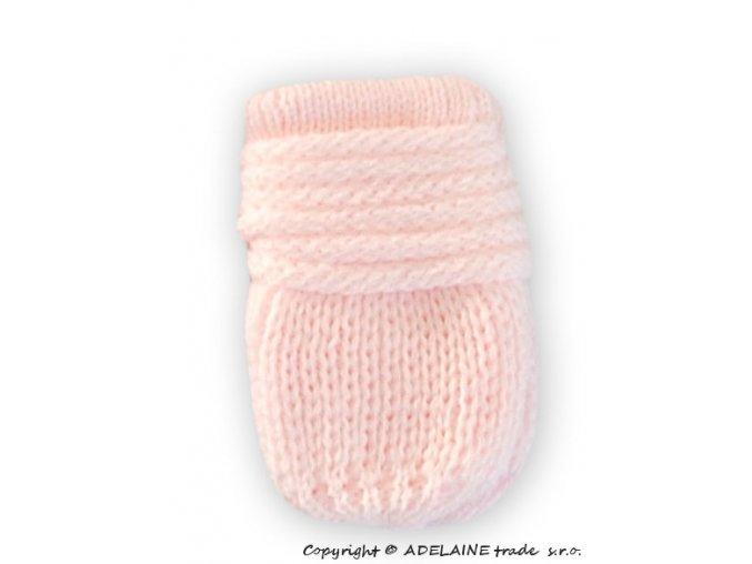 kojenecké rukavicky pletené sv.růžové