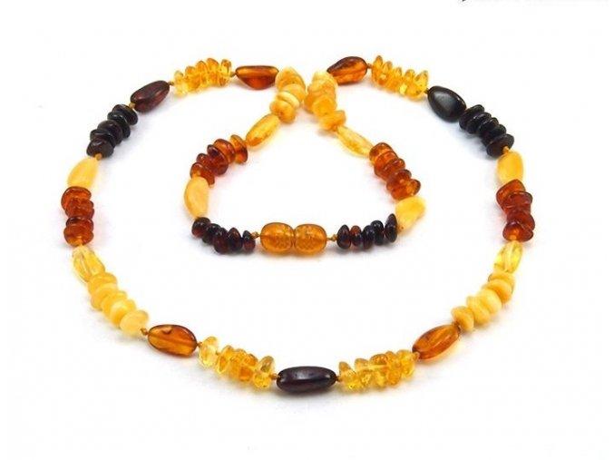 Jantarový náhrdelník Multi color