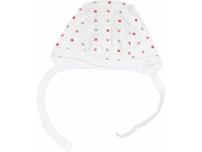 novorozenecka cepicka pejsek (puntiky)