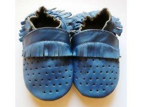 capiki mokasinky derovane modre