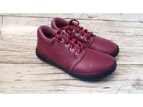 Dětské celoroční boty Jonap B1M vínová NEW - tkaničky