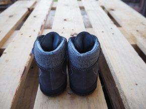 Dětská celoroční barefoot obuv Jonap B3SV šedá- S MEMBRÁNOU
