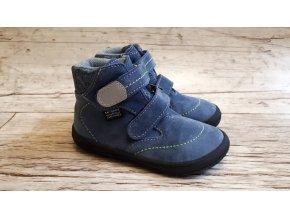 Dětská celoroční barefoot obuv Jonap B3 SV modrá - S MEMBRÁNOU