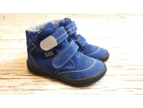 Dětská celoroční barefoot obuv Jonap B3 SV modrý maskáč - S MEMBRÁNOU