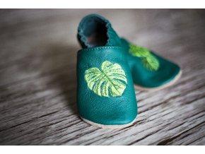 baBice barefoot capáčky - EM-034/ monstera zelená