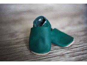 baBice barefoot capáčky - BA-137/ tmavě zelená