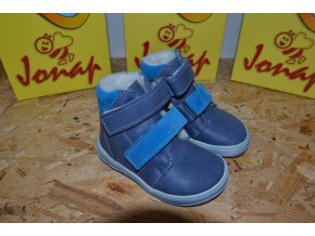 Zimní barefoot obuv Jonap B4 MV modrá SLIM