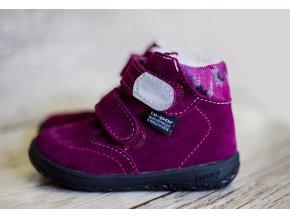Zimní barefoot obuv Jonap B5 SV vínová s membránou