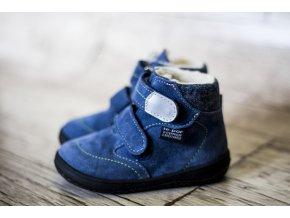 Zimní barefoot obuv Jonap B5 SV modrá s membránou