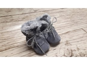 baBice barefoot capáčky - NBW-102/ zimní šedé