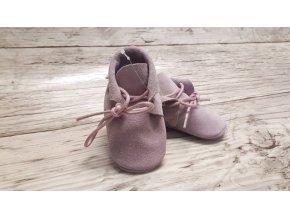 baBice barefoot capáčky - BA-188/ mokasíny růžové