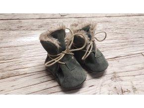 baBice barefoot capáčky - NBW-107/ zimní zelené