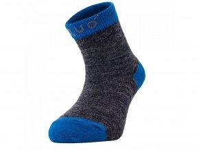 unuo merino ponožky šedý melír s tyrkysovou