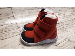 Baby Bare Febo winter Red velour Asfaltico