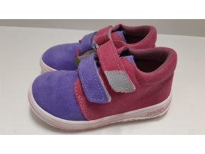 Celoroční barefoot obuv Jonap B1SV fialová růžová SLIM