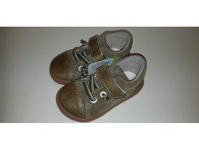 Celoroční barefoot obuv Jonap B12MV zelená khaki SLIM
