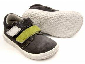 Celoroční barefoot obuv Jonap B1SV šedo zelená