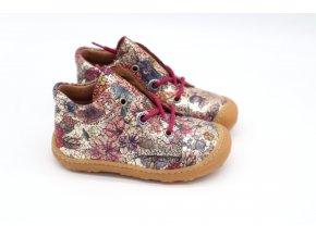 Barefoot kotníková obuv Ricosta - Pepino Happy merlot M