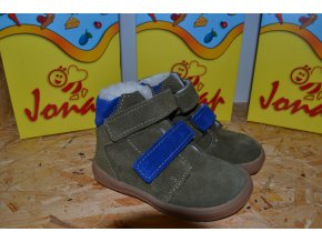 Zimní barefoot obuv Jonap B4 SV khaki SLIM