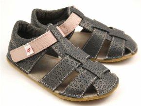 Ef barefoot sandálky šedá růžová