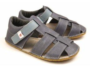 Ef barefoot sandálky šedá modrá