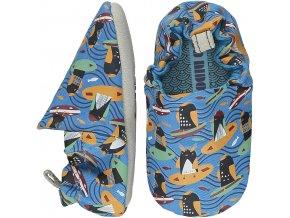 Surfing Penguins Blue Mini Shoes SS21 01