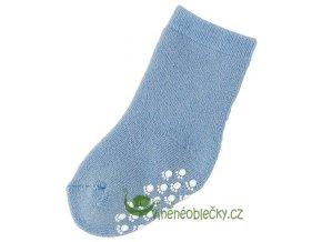 ponožka protiskluz merino modrá