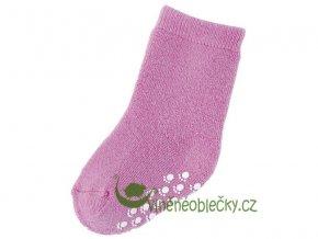 vlnene ponozky protiskluz ruzova