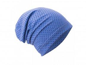cepice mini puntiky na modre