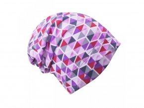 cepice trojuhelniky v sestihranu fialová