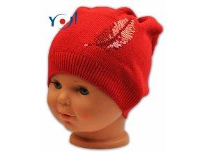 bavlnena cepicka YO! pirko cervena