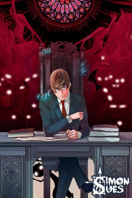Simon at desk