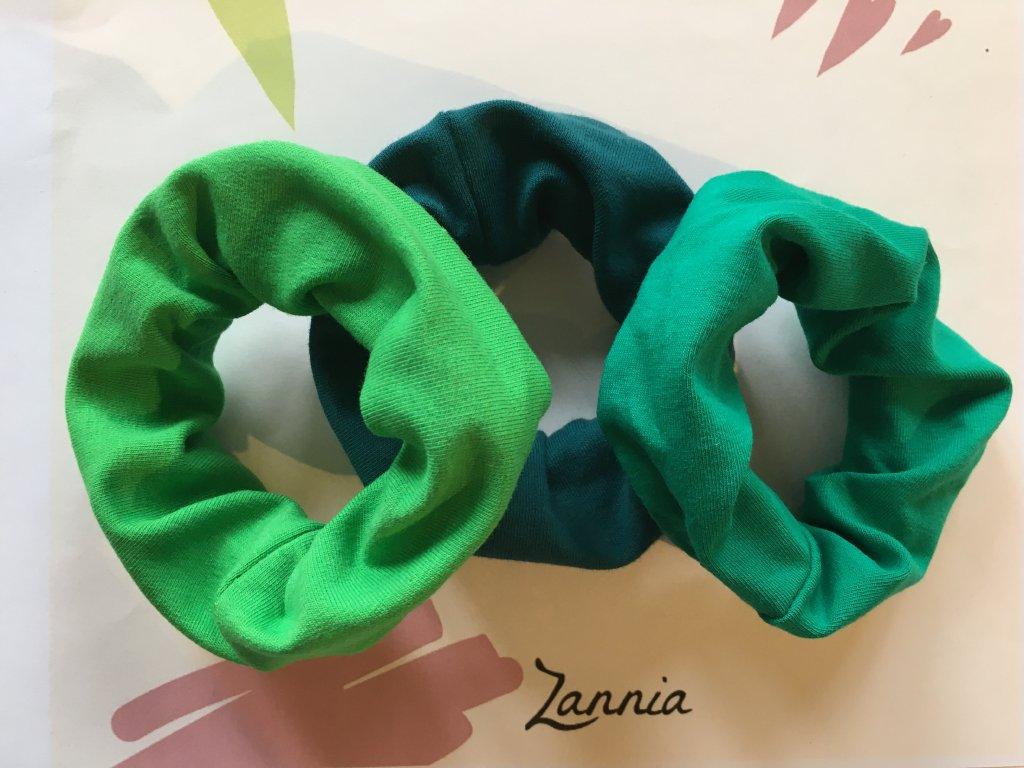 Gumičky - SET zelená