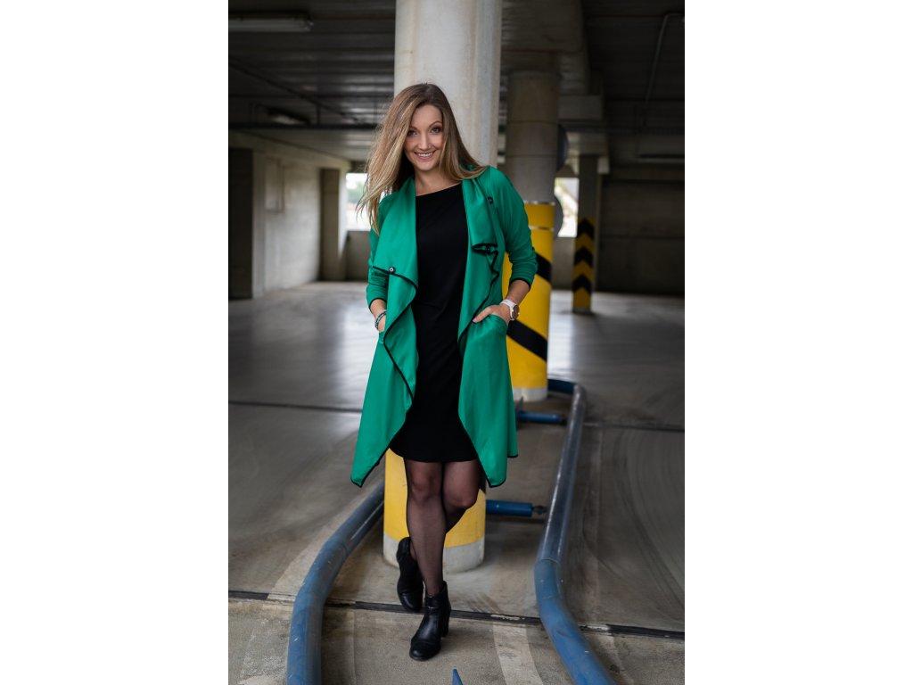Zelený kabátek - kardigan