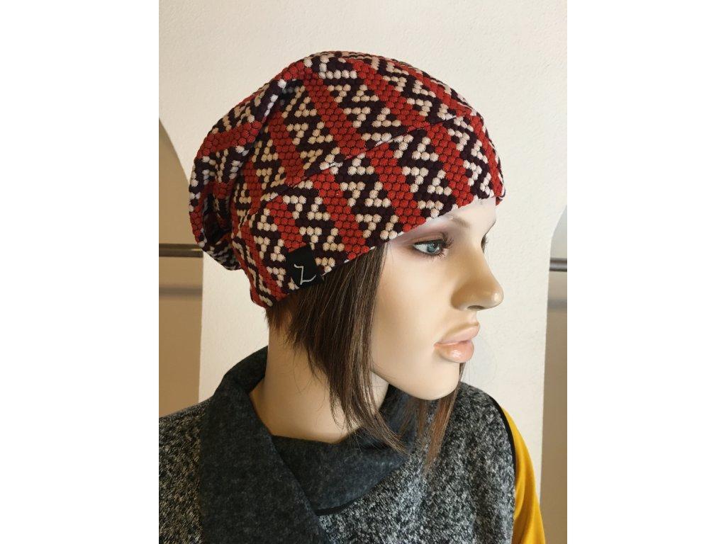 Čepice - vzorovaná