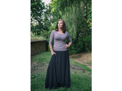 Zannia dlouha sukne cerna 2