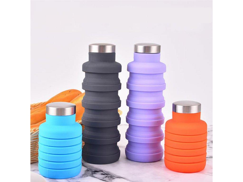 skladaci lahev na vodu harmonika vice barev 500 ml 3