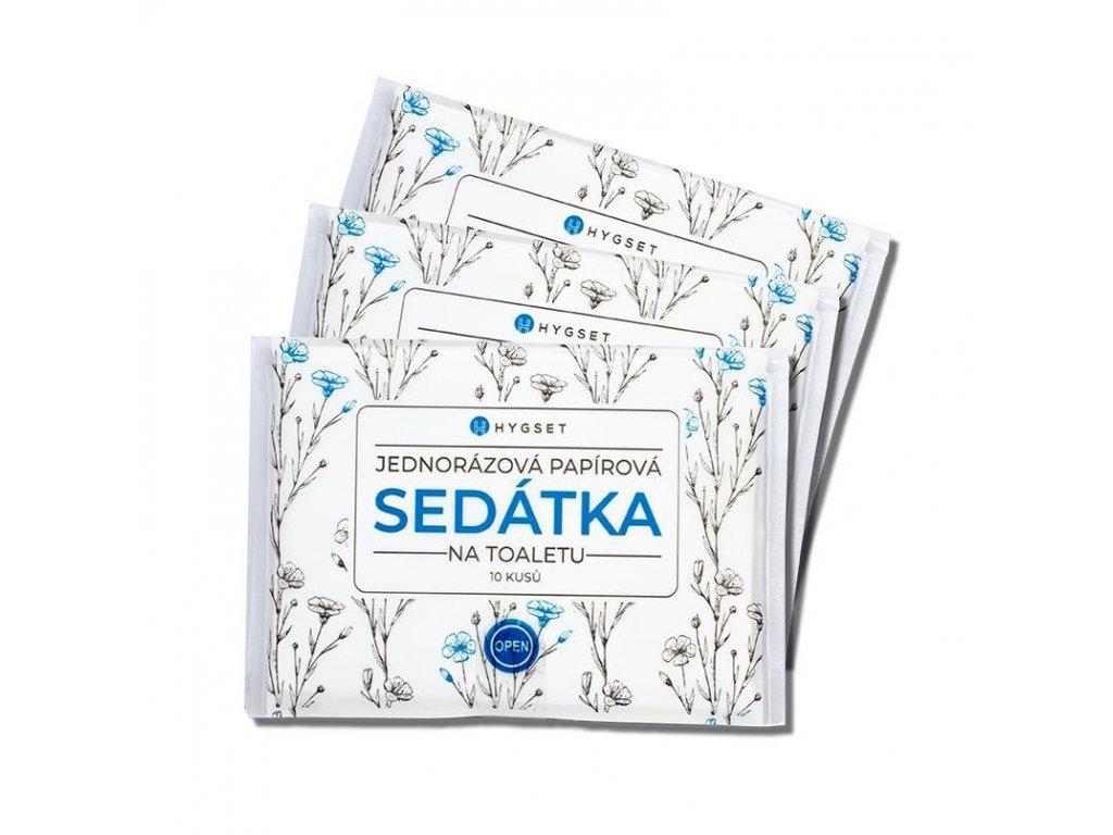 hygset jednorazove papirove sedatka na wc splachovatelne 10 ks