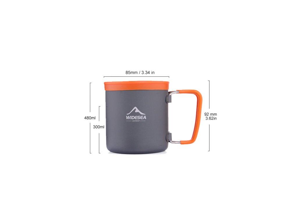 widesea outdoor hrnek hlinik 480 ml